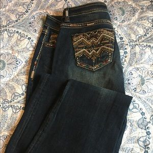 Grace jeans, jeweled beaded, western 31""